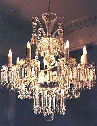 Antique Crystal Chandelier in Versailles, France