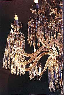 Incredible Antique Crystal Chandelier