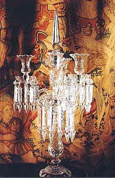 Incredible Antique Crystal Candle Holder