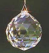 Sparkling Crystal Ball. Each size is gorgeous. Larger ones are hefty, heavy, and impressive.