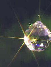 Brightly Flashing Crystal Ball in Sunlight. Someone Is Thinking Of You!