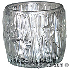 Large Tealight Ice Lamp. Fire and Ice! DISCONTINUED.