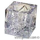 Crystal Cube Tealight Candle Holder! Elegant clear glass looks like Crystal, but at a very affordable price!
