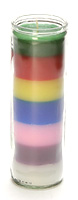 Love Rainbows? Here is a Rainbow Candle Captured in a Jar! DISCONTINUED.