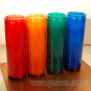 Fabulous Colorful Container Candles!