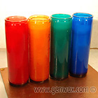 Candles in A Rainbow of Tall Colored Glass Containers! 110 Hours of Candle Burning Fun!