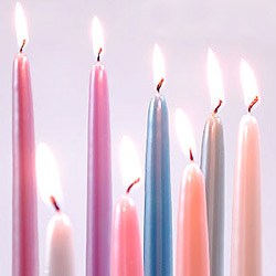 Classic Taper Candles in a Rainbow Array of Sizes & Colors!