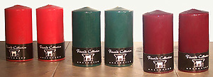 Unscented Colorful Classic 3X6 Inch Fireside Pillar Candles. Wonderful!