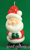 Cute and Colorful Santa Candle