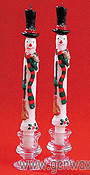 Whimsical Snowman Taper Candles To Make You Smile!