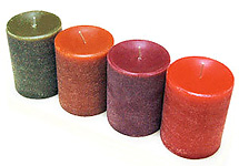 Scented Textured 3 X 4 Inch Pillar in Bright Vibrant Colors!
