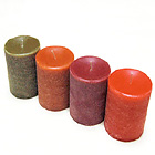 3 x 6 Inch Colorful Scented Textured Pillar Perfect For Holidays or Any Time!