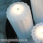 Colorful Scented 3 X 6 Inch Dripless Fluted Column Candle! MANY Scents & Colors!