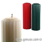 Big 3 X 9 Inch Scented & Colored Fluted Dripless Pillar Candle. LOTS of Choices!