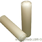 ATall White 3 x 12 Inch  Unscented Dripless Pillar Candle