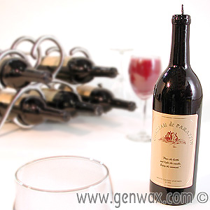 Real Looking Wine Bottle Candle. Great Table Decoration! DISCONTINUED.