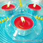 Tealights Can Swim! Glass Disc Tealight Floater! Float Any Tealight! DISCONTINUED.