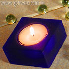 Entrancing Square Cobalt Blue Tealight Candle Holder. Very Special!