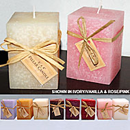 3x4 Highly Scented & Colorful Square Pillar Candles! NEW!