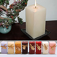 3x6 Highly Scented & Colorful Square Pillar Candles! NEW!