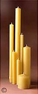 Superior Quality Beeswax Candle Sticks & Pillars! Favored by Religious Institutions for Decades. LOTS of Sizes! 100% or 51% Beeswax!
