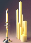 Beautiful Church Style Tapers & Pillars in Clean-Burning Beeswax Candles. Many Sizes! Naturally Fragrant. Try Something Special Today! In 100% or 51% Beeswax!