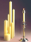 Beautiful Church Tapers and Pillars in Clean-Burning Beeswax Candles in Lots of Sizes! Try Something Special Today! In 100% or 51% Beeswax!