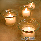 Flared Glass Candle Cups. Pretty and Perfect for Tealight or Votive Candles!