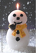 Brrr! Fabulous Chilly Snowman Candle! Realistic!