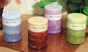 Highly Scented Triple Layer Column Candle 3 x 4 Inches.