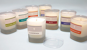 Best Selling Lusciously Scented 7 Ounce Frosted Glass Jar Candle. Wonderful!