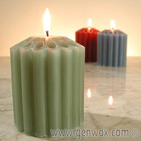 Premium Dripless Three by Three Inch 35 Hour Colorful Scented Pillar Candle! Superior burning quality! Special design burns evenly. No craggy shells or drowned wicks!