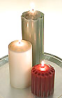 Scented Pillar Candles! Some Dripless. Wide Choice of Colors, Sizes, & Scents!