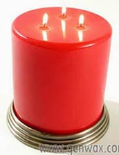 Colossal Three Wick Highly Scented Colorful 5x5 Inch Pillar. Long Burning! Best Quality! DISCONTINUED.