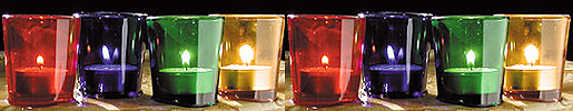 Jewel Colors Glass Votive or Tealight Candle Holder! Make a Rainbow!