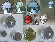 Crystal Ball Gem Colors ~ Beautiful colored crystal balls, and you still get Rainbows, too!