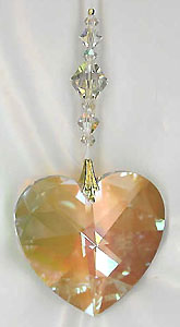 Beautiful 40mm AB Crystal Heart ~ Dressed Up with Sparkling Crystal AB Beads! Spectacular!