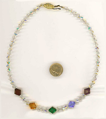 """~ Crystal Rainbow Jewels Necklace 15"""" or 16"""" ~"""