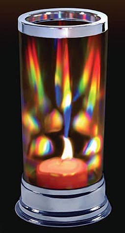 Romantic Prism Candle Holder Makes Dancing Rainbows!