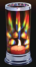 Prism Candle Lantern Makes Exciting Rainbows