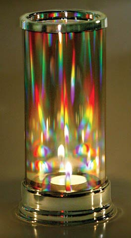 Lovely Prism Candle Lantern Makes Dancing Rainbows