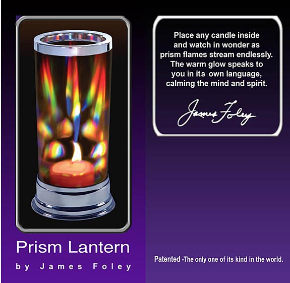 Romantic Prism Lantern Candle Holder Makes Dancing Rainbows!