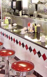 Remember When Diner! Old Fashioned Soda Fountain! Delicious Ice Cream Sundaes! Floats! Frappes! Shakes! Home Made Pies! Puddings!