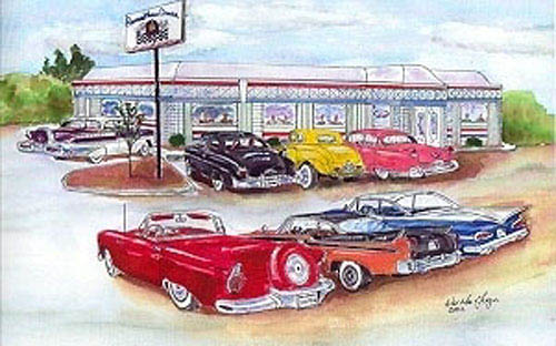 Remember when diner rochester restaurant fun photos for Diner painting