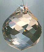 Swirl Ball ~ Very slightly Teardrop Shaped, Rounded and Pretty, with all the Shine and Rainbows of the Crystal Ball.