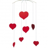 Flensted Mobile Valentine Happy Hearts