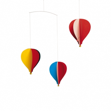 Flensted Mobile Three Hot Air Balloons.