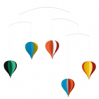 Flensted Mobile Five Hot Air Balloons.