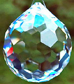 Crystal Ball With Wonderful Hexagonal Facets.