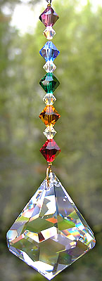 Beautiful Bell Crystal with Sparkling Rainbow Beads